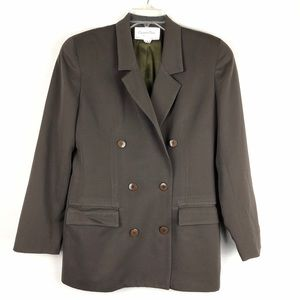 Christian Dior Vintage The Suit Wool Green Blazer